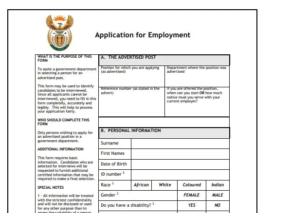 z83 form example for government jobs