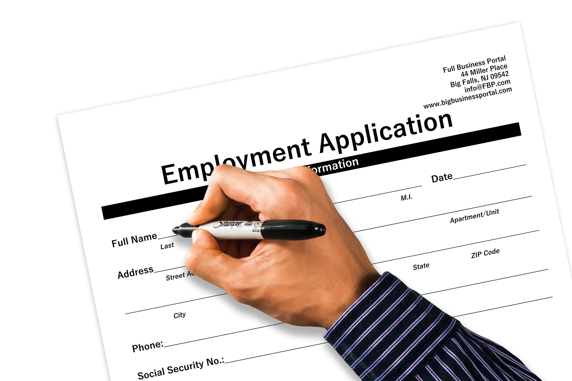 employment letter application